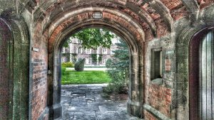 Archway through to Second court at Jesus college