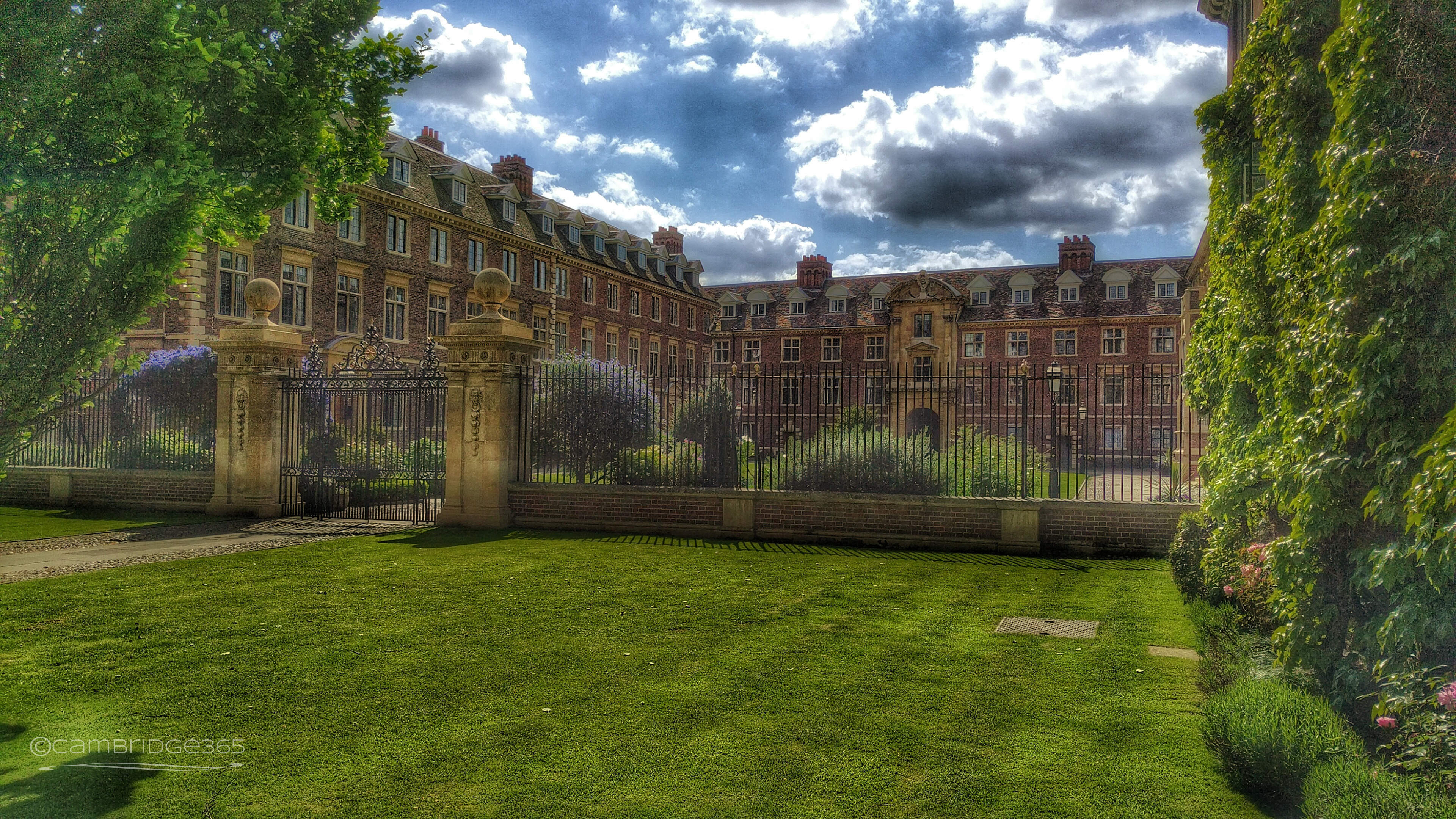The main gate of St Catharine's College, Cambridge
